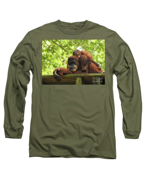 Long Sleeve T-Shirt featuring the photograph Safe With Mom by Lisa L Silva