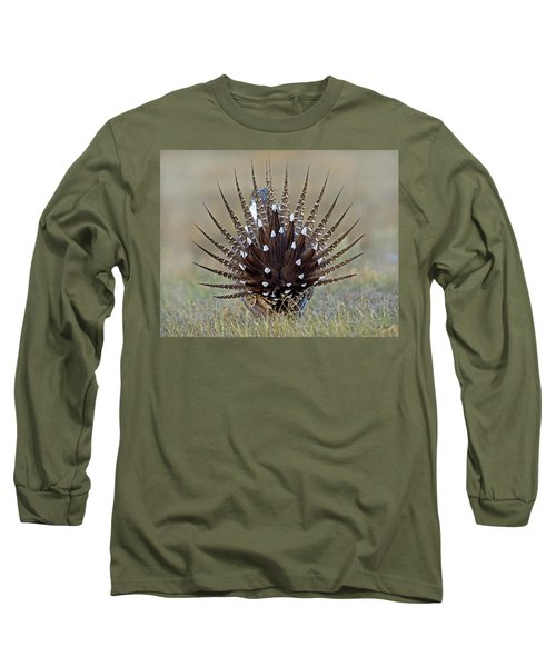 Sage-grouse Tail Fan Long Sleeve T-Shirt