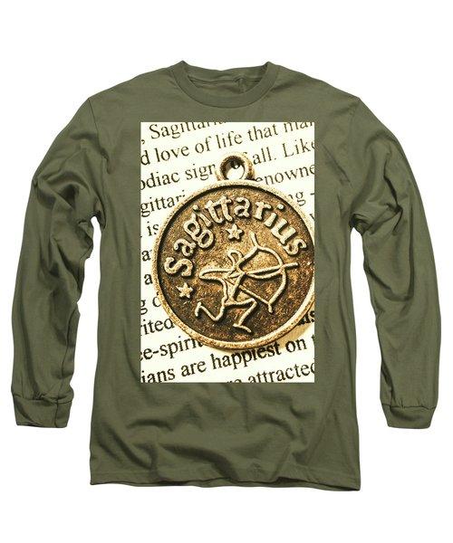 Sagittarius Astrology Design Long Sleeve T-Shirt