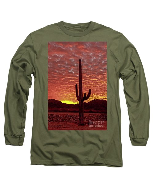 Long Sleeve T-Shirt featuring the photograph Saguaro Sunrise by Robert Bales