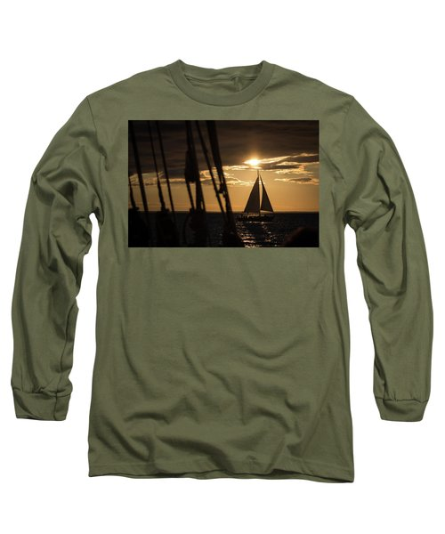 Sailboat On The Horizon Long Sleeve T-Shirt
