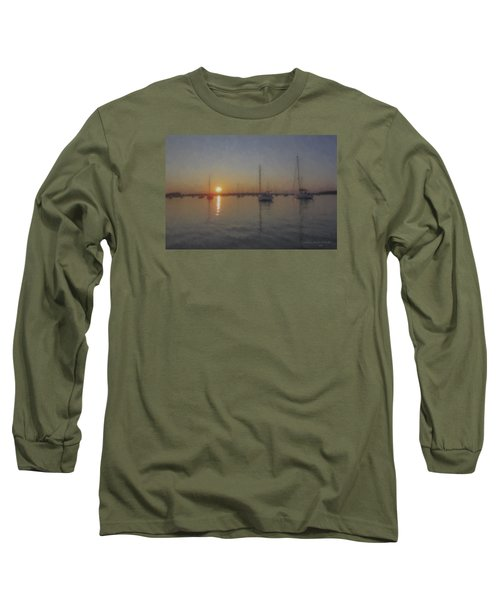 Sailboats At Sunset Long Sleeve T-Shirt