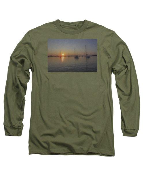 Sailboats At Sunset Long Sleeve T-Shirt