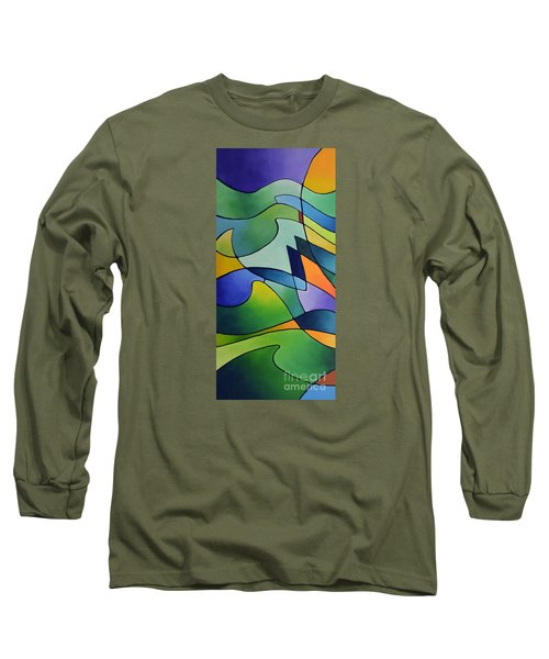Sailing Away, Canvas One Long Sleeve T-Shirt