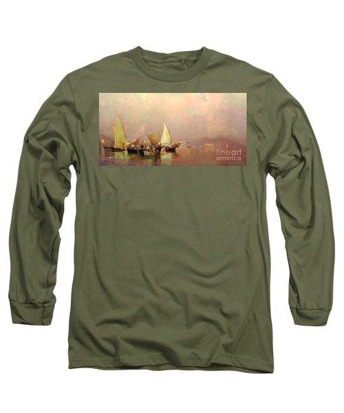 Sailing Fishermen Boats In Naples Long Sleeve T-Shirt