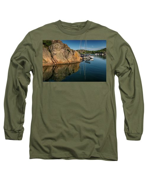 Sailing In Sweden Long Sleeve T-Shirt by Martina Thompson