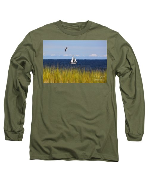 Sailing On Long Beach Island Long Sleeve T-Shirt