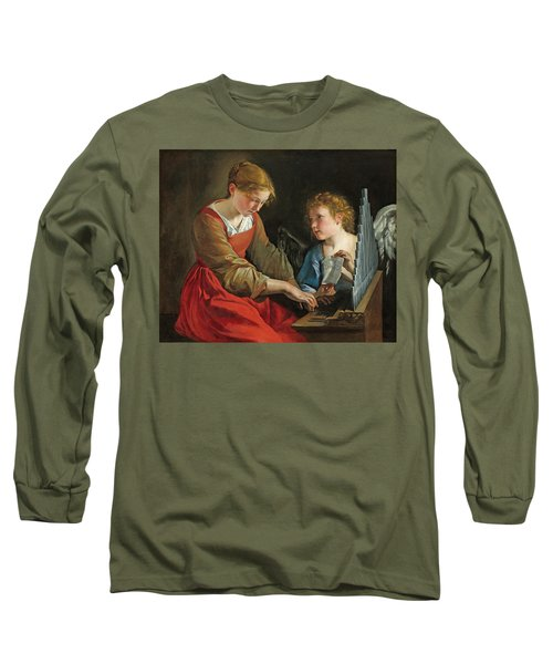 Saint Cecilia And An Angel Long Sleeve T-Shirt