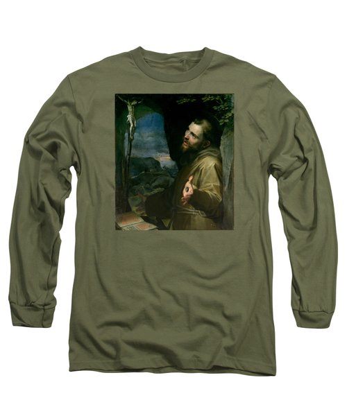 Long Sleeve T-Shirt featuring the painting Saint Francis by Federico Barocci