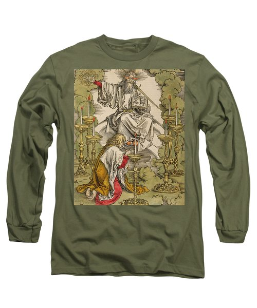 Saint John On The Island Of Patmos Receives Inspiration From God To Create The Apocalypse Long Sleeve T-Shirt