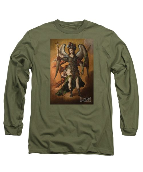 Saint Michael The Archangel Long Sleeve T-Shirt by Celestial Images