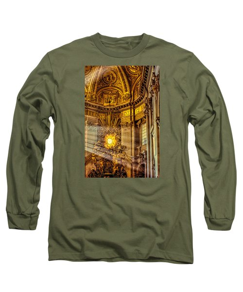 Long Sleeve T-Shirt featuring the photograph Saint Peter's Chair by Trey Foerster