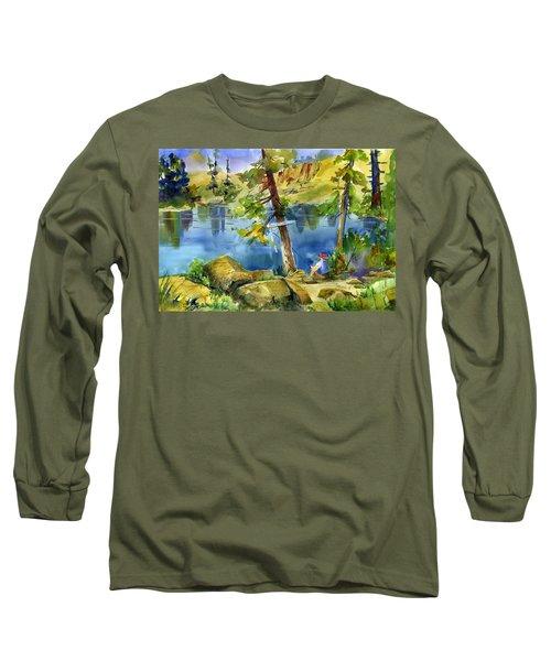 Salmon Lake Fisherman Long Sleeve T-Shirt