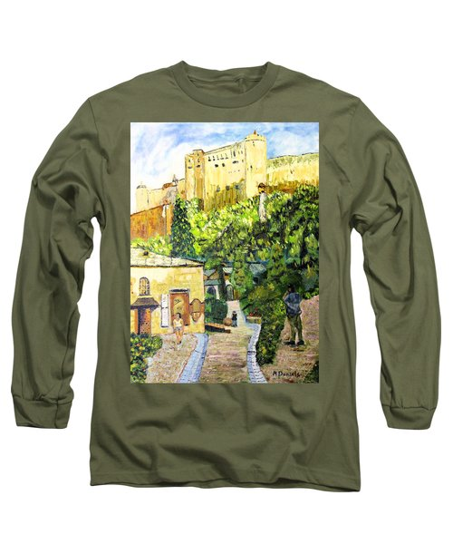Long Sleeve T-Shirt featuring the painting Saltzburg by Michael Daniels
