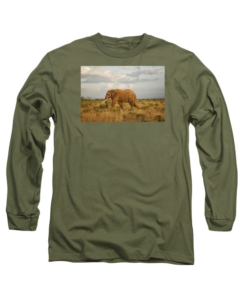 Long Sleeve T-Shirt featuring the photograph Samburu Giant by Gary Hall