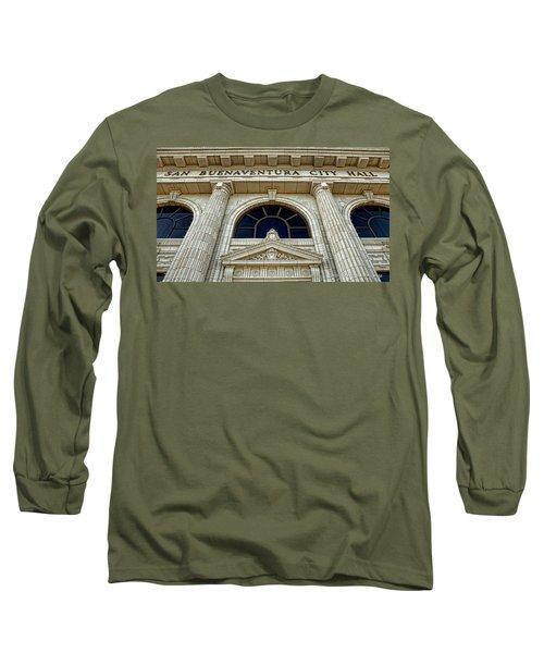 San Buenaventura City Hall Long Sleeve T-Shirt by John A Rodriguez