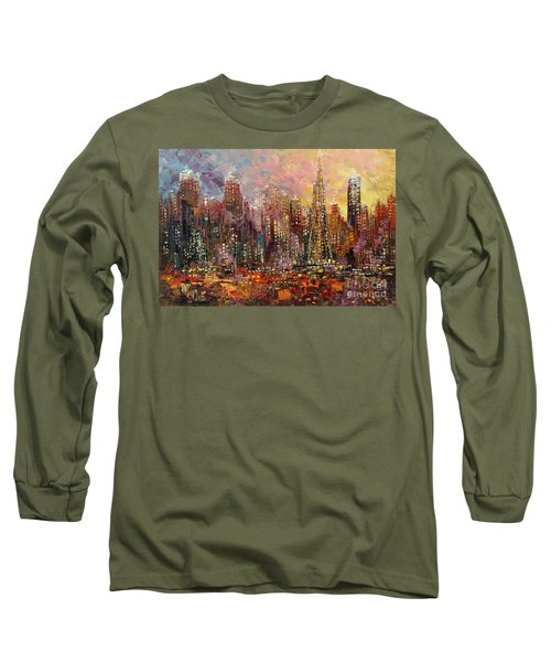 Long Sleeve T-Shirt featuring the painting San Francisco by Tatiana Iliina