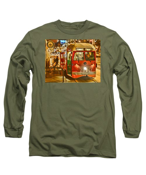 Long Sleeve T-Shirt featuring the photograph San Francisco's Ferry Terminal by Steve Siri