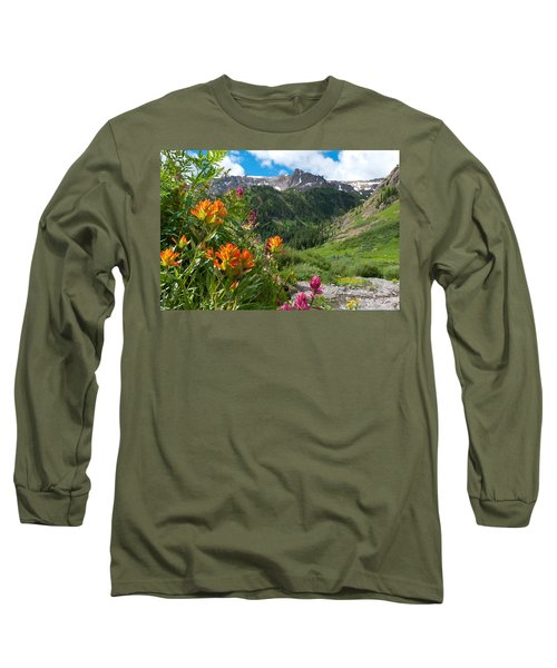 San Juans Indian Paintbrush Landscape Long Sleeve T-Shirt