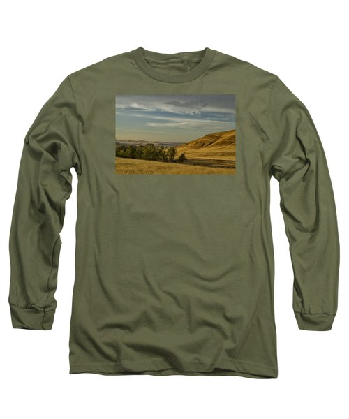 San Luis Reservoir 9891 Long Sleeve T-Shirt by Tom Kelly