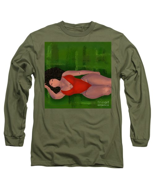 Long Sleeve T-Shirt featuring the digital art Alternative Curves by Bria Elyce
