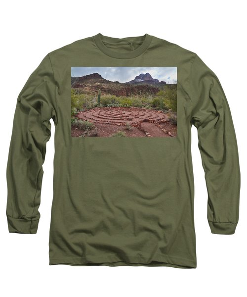 Long Sleeve T-Shirt featuring the photograph Sanctuary Cove Labyrinth by Donna Greene