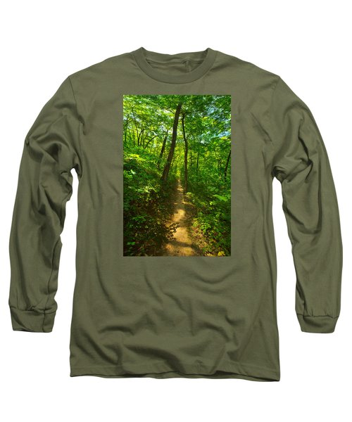 Sand Cave Trail Long Sleeve T-Shirt by Phil Koch