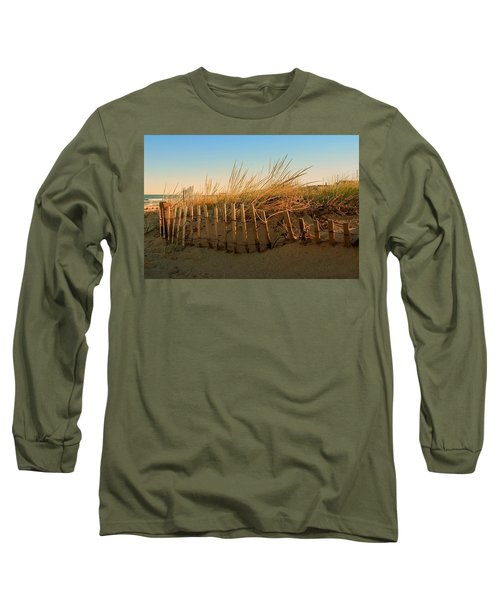 Sand Dune In Late September - Jersey Shore Long Sleeve T-Shirt