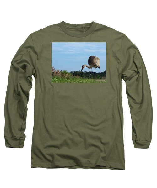 Sandhill Crane 018 Long Sleeve T-Shirt