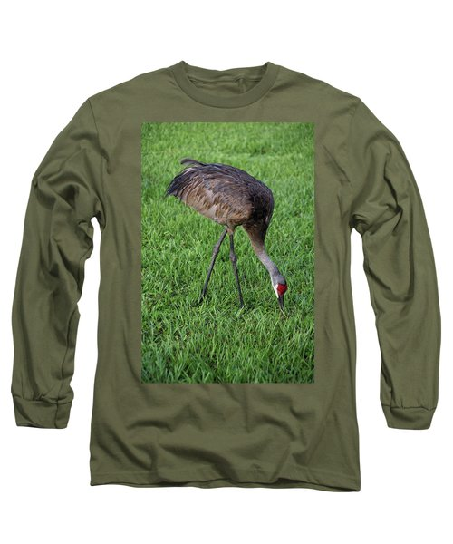 Long Sleeve T-Shirt featuring the photograph Sandhill Crane II by Richard Rizzo