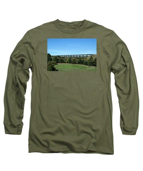 Long Sleeve T-Shirt featuring the photograph Sandhills Railroad Bridge  by Mark McReynolds
