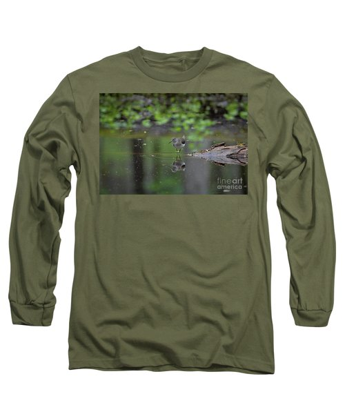 Sandpiper In The Smokies Long Sleeve T-Shirt by Douglas Stucky