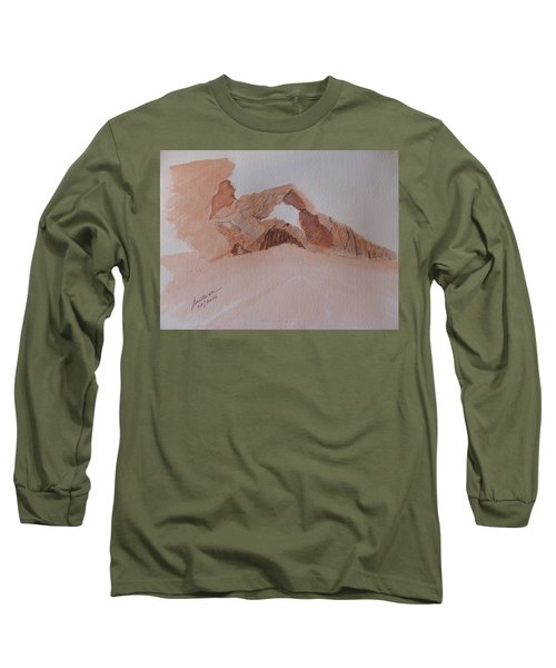 Long Sleeve T-Shirt featuring the painting Sandstone Arch - Valley Of Fire  by Joel Deutsch
