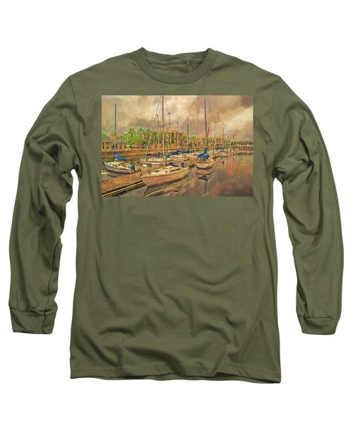 Long Sleeve T-Shirt featuring the photograph Sanford Sailboats by Lewis Mann