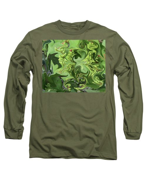 Sanibel Seagrapes Long Sleeve T-Shirt by Melinda Saminski