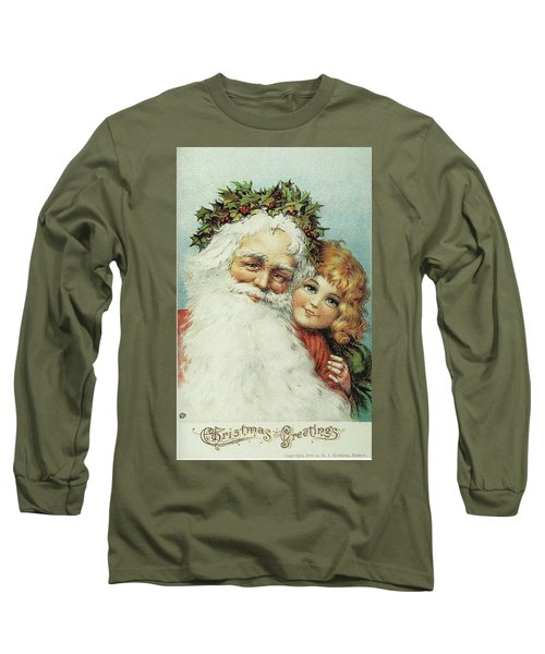 Santa And His Little Admirer Long Sleeve T-Shirt