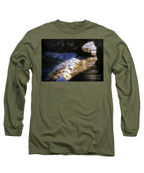 Santa Cruz 'bridge' California Coastline Long Sleeve T-Shirt by John A Rodriguez
