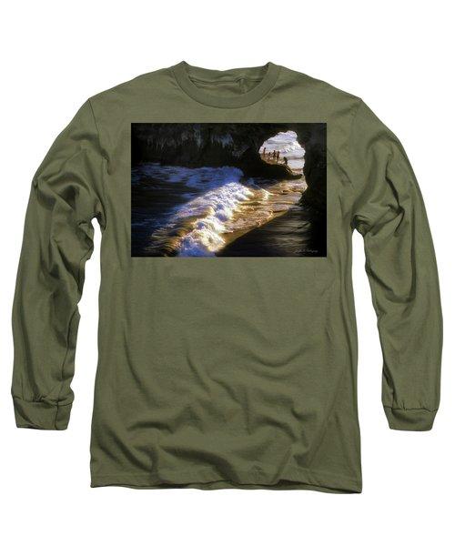 Santa Cruz 'bridge' California Coastline Long Sleeve T-Shirt