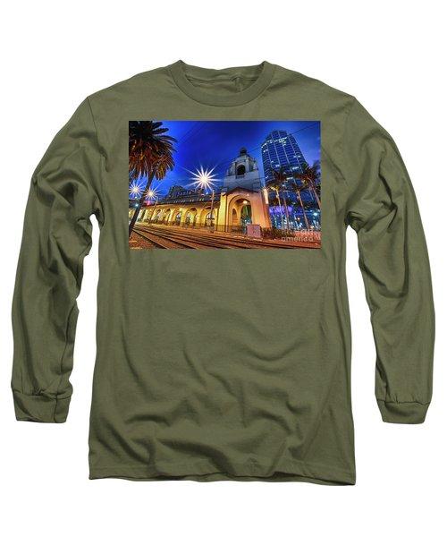 Santa Fe At Night Long Sleeve T-Shirt