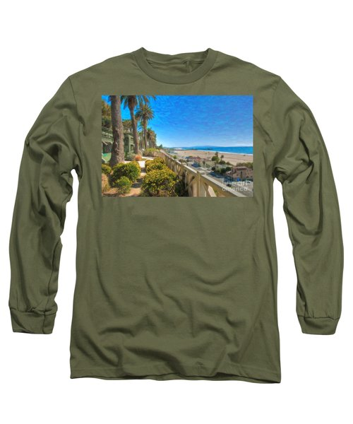 Santa Monica Ca Palisades Park Bluffs Gold Coast Luxury Houses Long Sleeve T-Shirt
