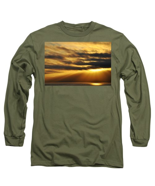 Long Sleeve T-Shirt featuring the photograph Santa Monica Golden Hour by Kyle Hanson