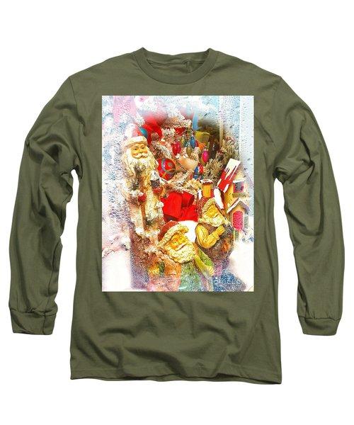 Santa Scene 1 Long Sleeve T-Shirt