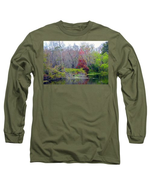 Long Sleeve T-Shirt featuring the photograph Sarasota Reflections by Madeline Ellis
