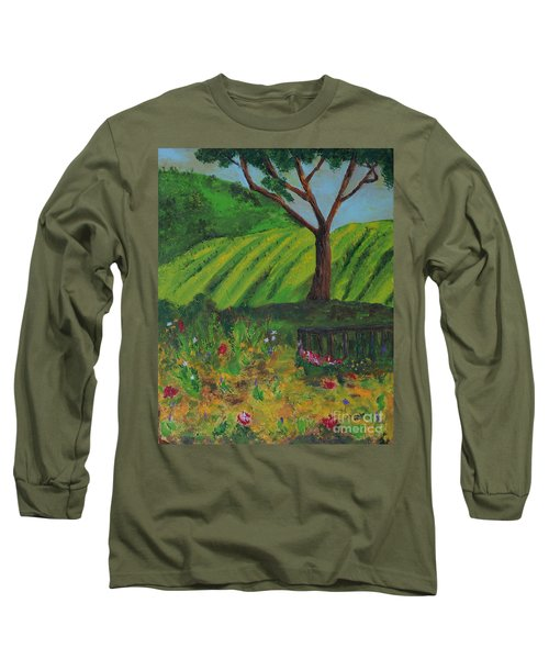 Saratoga Hills Long Sleeve T-Shirt by Haleh Mahbod