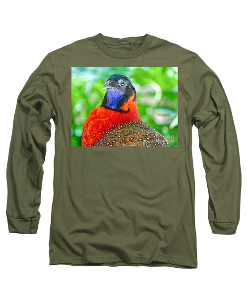 Satyr Tragopan  Long Sleeve T-Shirt by Judy Kay