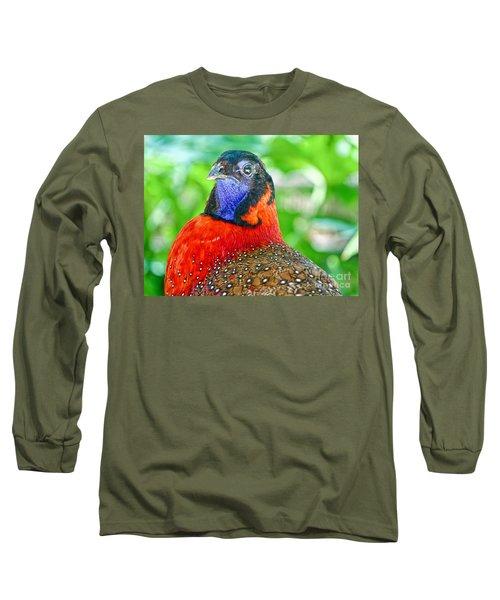 Satyr Tragopan  Long Sleeve T-Shirt