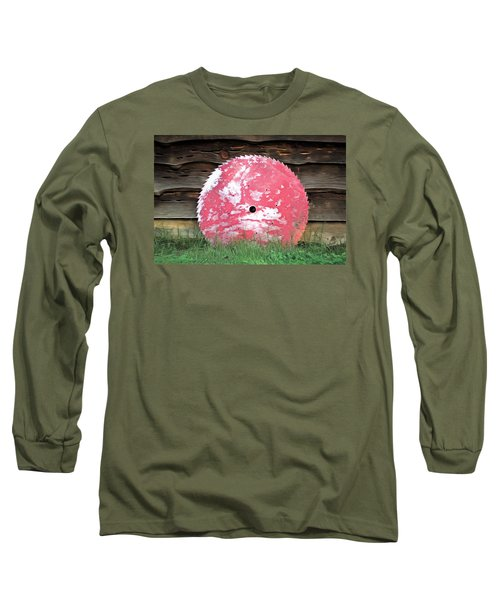 Long Sleeve T-Shirt featuring the photograph Saw Blade by Marion Johnson