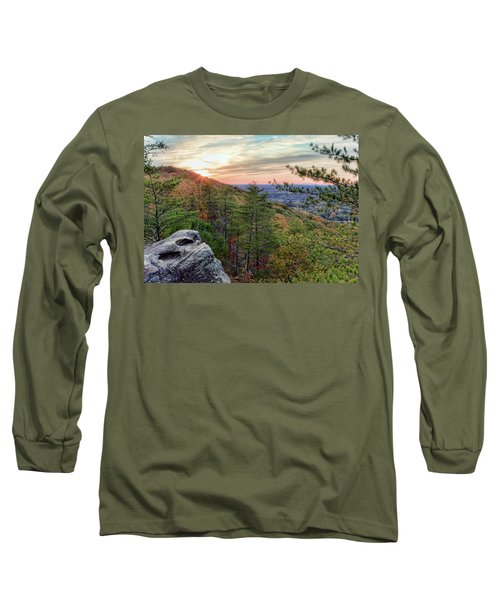 Sawnee Mountain And The Indian Seats Long Sleeve T-Shirt