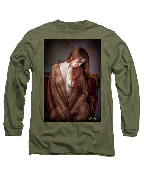 Long Sleeve T-Shirt featuring the photograph Scarlet Repose by Rikk Flohr