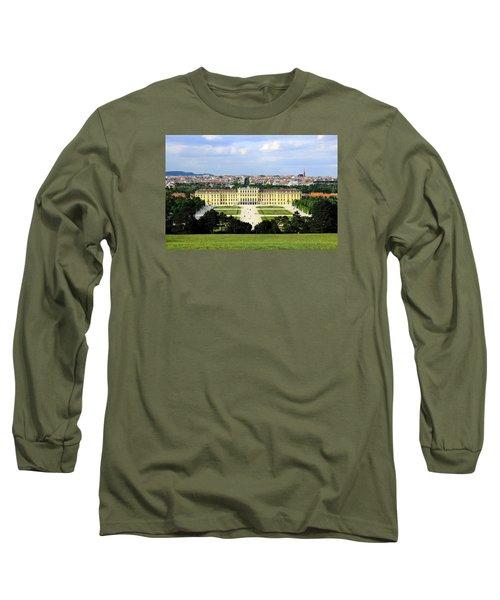 Schloss Schoenbrunn, Vienna Long Sleeve T-Shirt by Christian Slanec